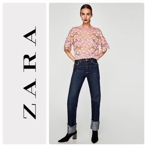 Zara floral lace top
